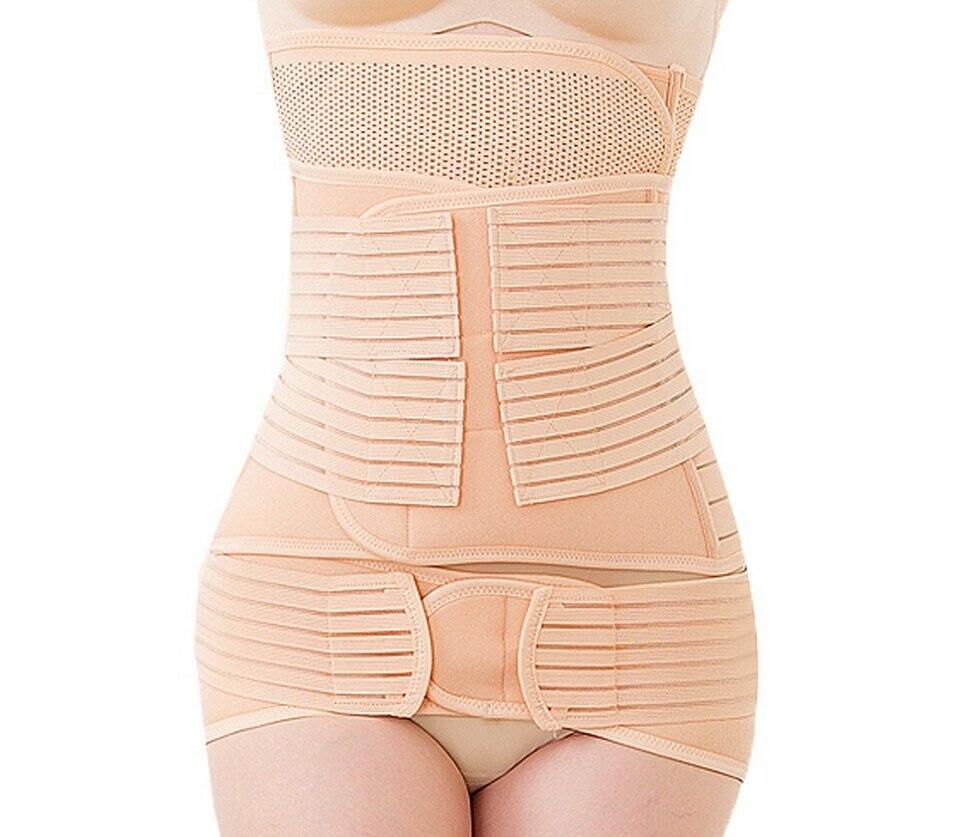 Wysokiej jakości 3 sztuk / zestaw poporodowe bandaż po ciąży pas po porodzie bandaż po porodzie brzucha zespół dla kobiet w ciąży
