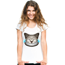Cheshire Cat Design Hipster Women T-Shirt