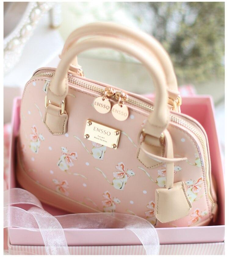 Princess sweet lolita bag original new sweet lady shell fresh embroidery messenger shoulder bag ENSSO 041 юбка strawberry witch lolita sk