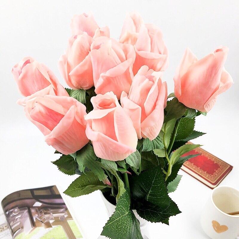 10st / set Rose Konstgjorda blommor bröllop Blommor Bridal Bouquet - Semester och fester - Foto 5