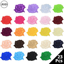 23 Colors Set Flower Lace Embroidery Iron on Stickers Applique Clothes Patch Embroidered Patches for Clothing Rose Badges Fabric недорого