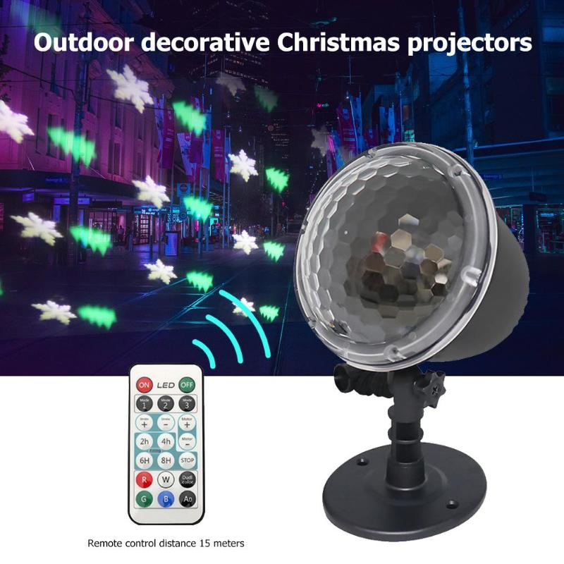 Outdoor Projection Lamp Waterproof Lawn Christmas Holiday Decor Night Light