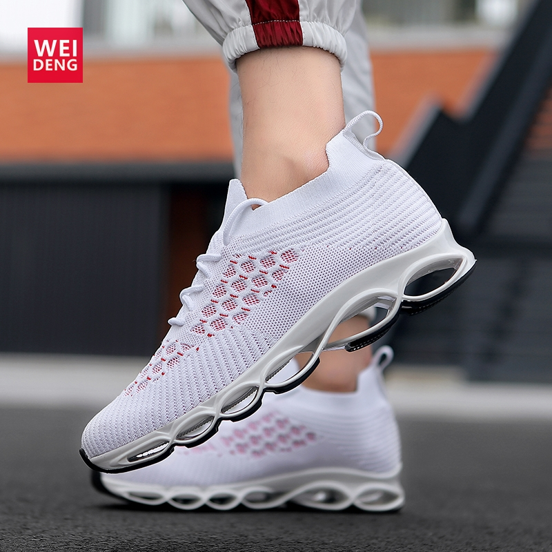 WeiDeng Men Blade Hombre Running WAVE Tenis Masculine Cool Sock Shoes PROPHECY Elastomer Sole Fly Mesh Casual Breathable ShockWeiDeng Men Blade Hombre Running WAVE Tenis Masculine Cool Sock Shoes PROPHECY Elastomer Sole Fly Mesh Casual Breathable Shock
