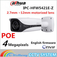 Original Dahua DH IPC HFW5421E Z CCTV IPC 4MP POE HD 2 7mm 12mm Motorized Lens