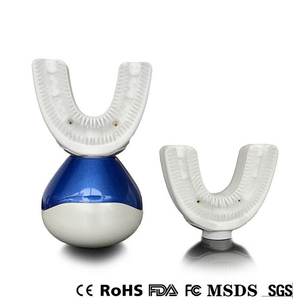 Brosse à dents électrique 360 degrés USB rechargeable Ultra sonique nettoyage cavité buccale automatique sonique u-forme dents nettoyant brosse à dents