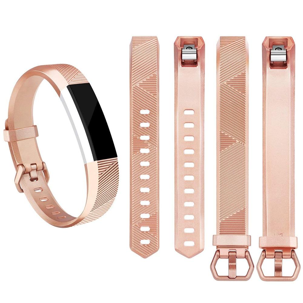 Honecumi oro rosa banda para Fitbit Alta HR/Fitbit Alta reloj inteligente en muñeca Correa ajuste poco Alta HR pequeña pulsera grande