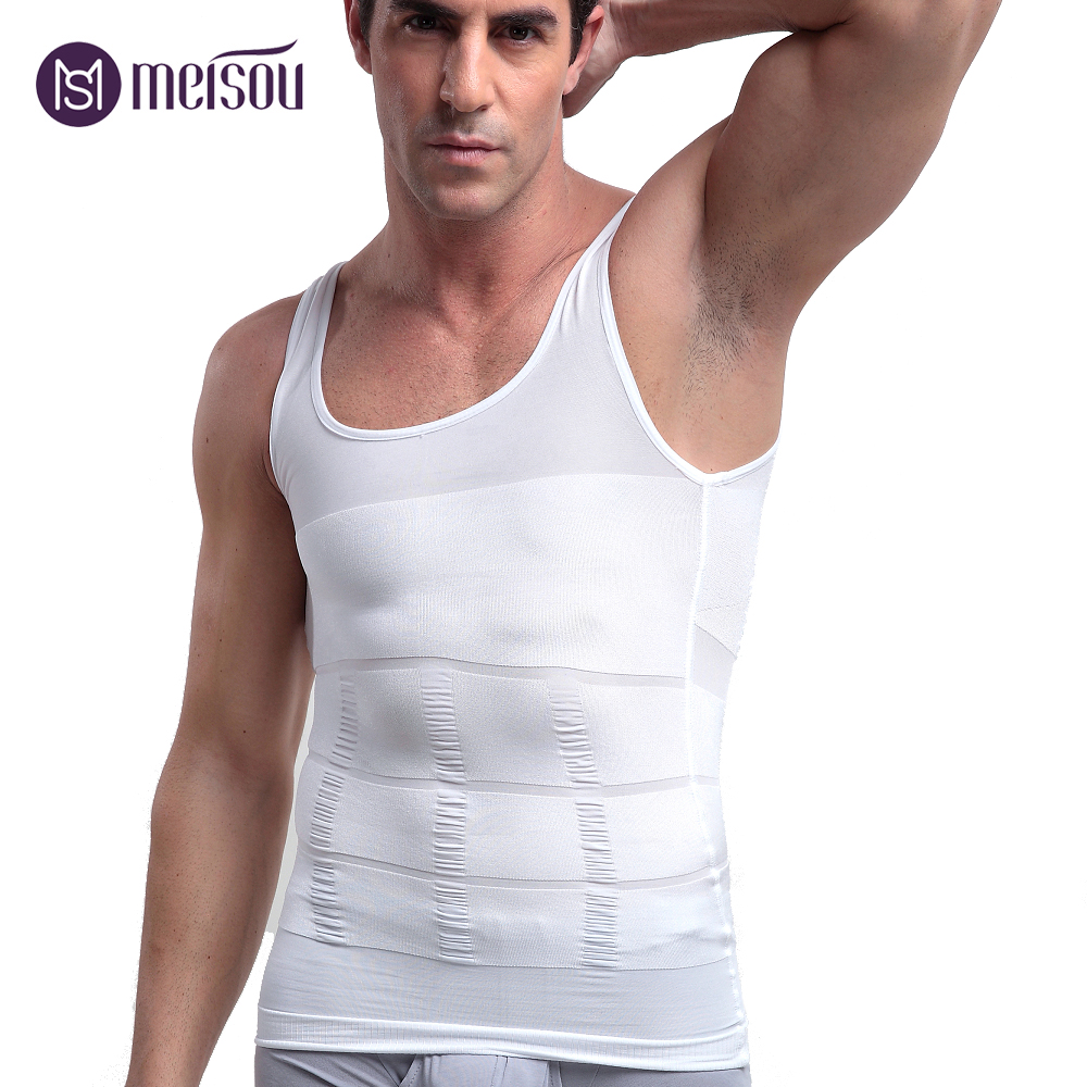 8e2a4fb2c7854 Slimming Underwear Body Shaper Men Corset Waist Cincher Vest tshirt Men  Bodysuit Tummy Belly Waist Slim