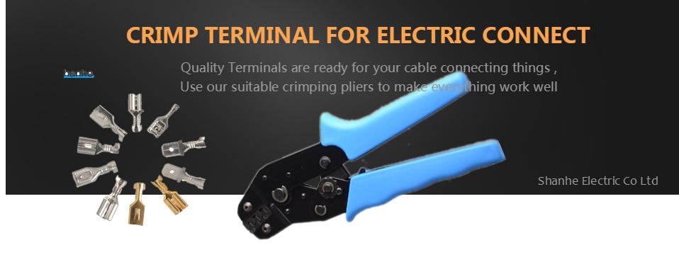 Heatshrink Female Spade Terminal électrique sertir connecteur. Entièrement Isolé