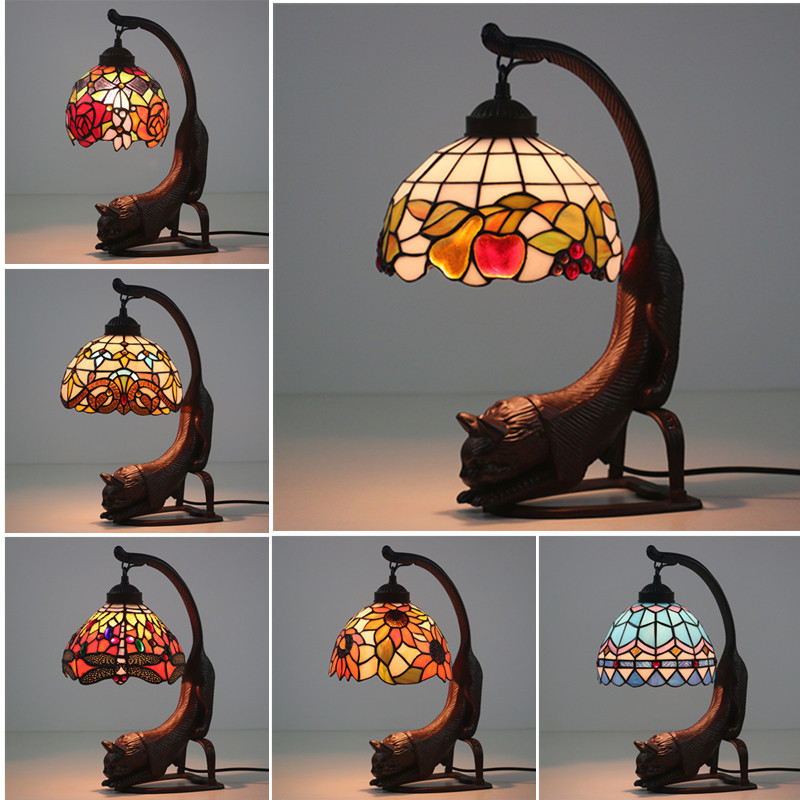 Table Lamps Lamps & Shades Fashion Design Turkish Mosaic Lamps E27 Base Handmade Glass Lampsahde Bedroom Bedside Vintage Table Lamp Light Fixtures