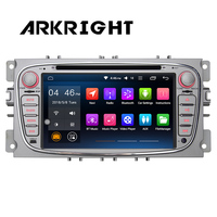 ARKRIGHT Android 6.0 7 2 Din Car Radio Audio Stereo GPS Navigation Head unit For Ford Focus 2007 2010 DVD Car multimedia player
