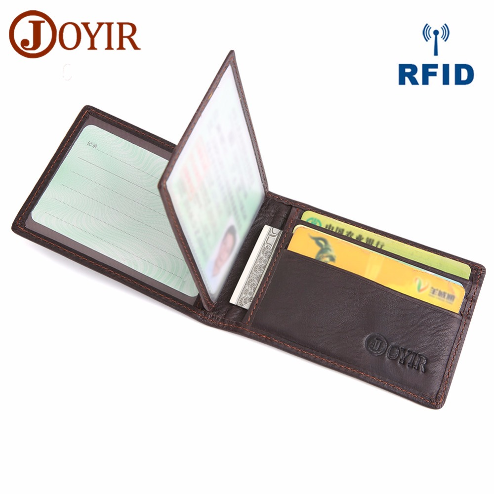 JOYIR Driver License Holder Wallet Genuine Leather Cover For Car Driving Business Credit Card Holder Thin Purse For Male Gift