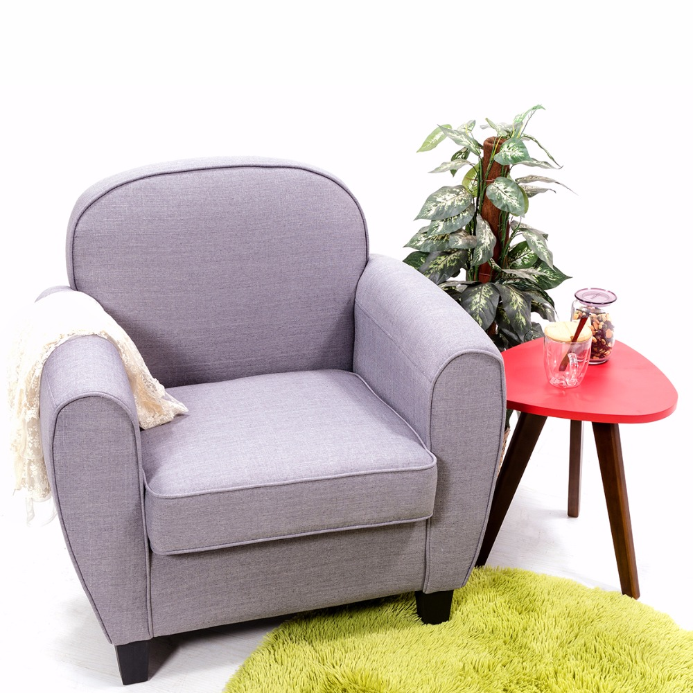 купить Tub Chair Armchair Modern Grey Linen Single One Seater Sofa Living Room Furniture HOT SALE недорого