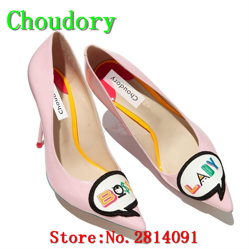 Choudory Leather Slingbacks Slip-On Extreme High Heels Party Designer Women Shoes Shallow Pointed Toe Thin Heels Rome Sexy Pumps