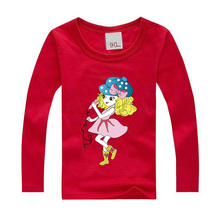 Fashion spring summer boys girls clothes tops children T shirt kids clothing cotton material