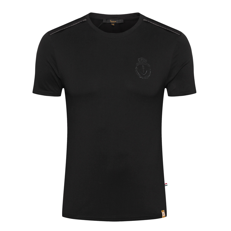 Multimillonario T camisa de los hombres de piel de serpiente nuevo 2019 mercerizado de moda de algodón bordado transpirable alta calidad M 4XL envío gratis-in Camisetas from Ropa de hombre    1