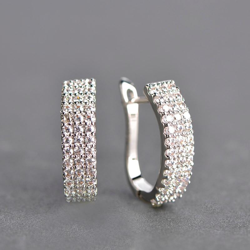 MECHOSEN Hot Jual Cubic Zirconia Stud Earrings Wanita Emas-warna - Perhiasan fashion - Foto 3