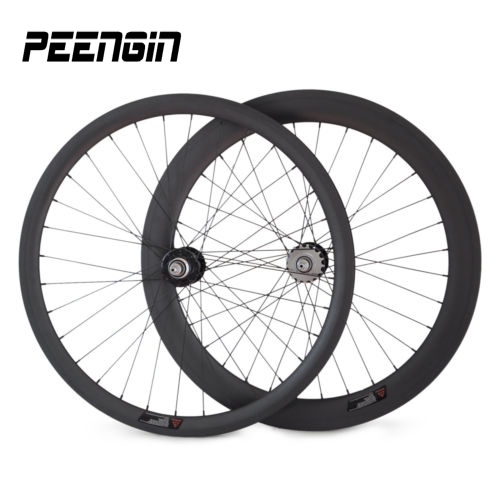 delivery by EMS easy order tracking carbon aero wheelset 38+60mm mixed track clincher wheels 25mm ruedas fixie hub single speed image