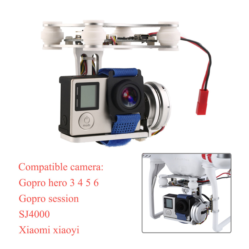 Gopro3 4 5 6 Sj4000 Lightweight 2-Axis Brushless Gimbal Frame with BGC Board 2804 140kv Motor For RC FPV Drone S500 S550 F450 image