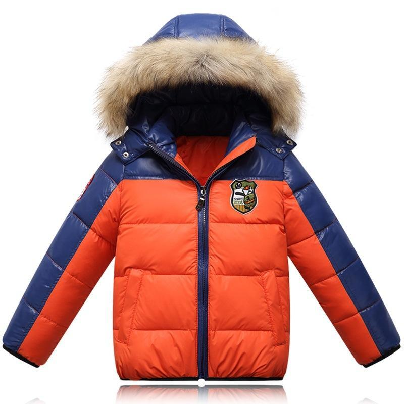 524d2a583 2016 New Boy Winter Coat Hooded Children Patchwork Down Baby Girl ...