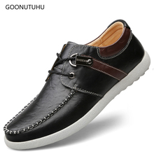 2019 trending mens shoes genuine leather causal spring & autumn fashion shoe man youth driving platform for men hot sale