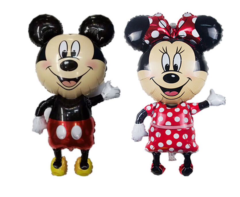 Large 46inch 1PC Giant Mickey and Minnie Balloon, Mouse Inflatable Helium Airwalker Foil children Birthday Party Balloon