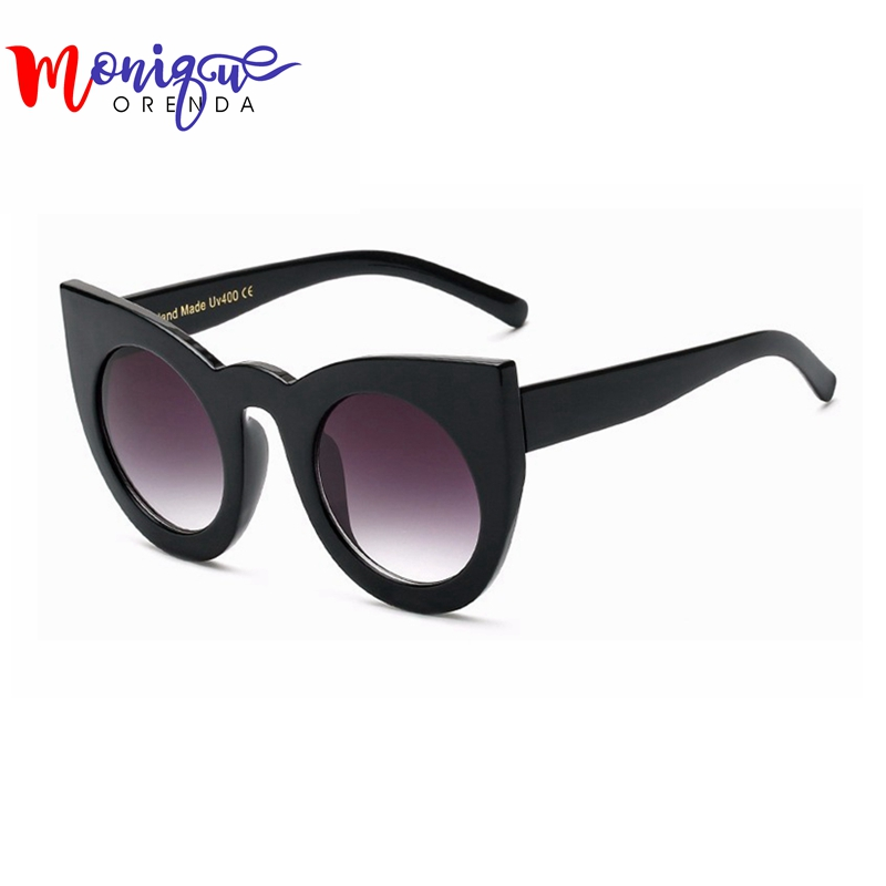 BOUTIQUE Newest Fashion Women Sungalsses Cat Eye Sunglasses High Quality big Frame Ladies Glasses UV400 Free Shipping