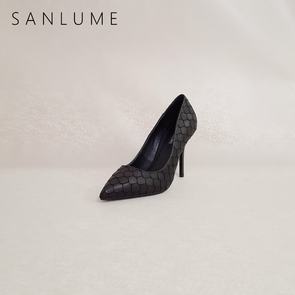 SANLUME Autumn Black <font><b>Heels</b></font> Stiletto Pumps Women <font><b>Shoes</b></font> Woman <font><b>Extreme</b></font> <font><b>High</b></font> <font><b>Heels</b></font> <font><b>Fetish</b></font> Ladies <font><b>Sexy</b></font> Party <font><b>Shoes</b></font> Pointed Toe <font><b>Heels</b></font> image