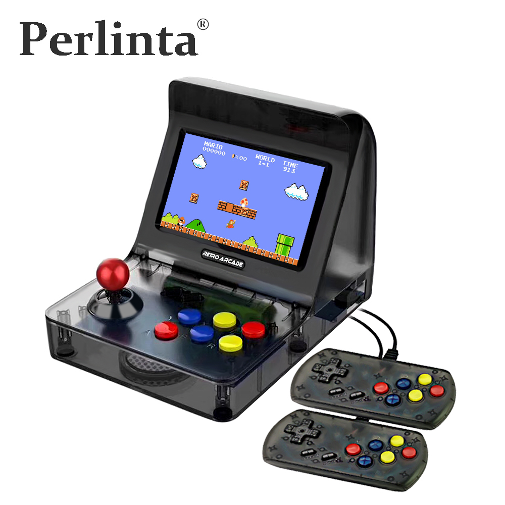 Perlinta 4.3 Inch Portable and Rechargable Mini Handheld Game Console Video Player Support Dual-Players And TV Out 3000Games