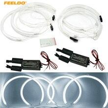 Feeldo 2×127.5 мм 2×159 мм Автомобиль CCFL привело Ангельские глазки Фары для автомобиля для BMW X5 (E53) ангельские глазки Наборы белый # am3899