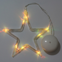 Star Christmas Decorations Led Hanging Light Festival Chandeliers New Year S Day Activities Decorated Battery Operation