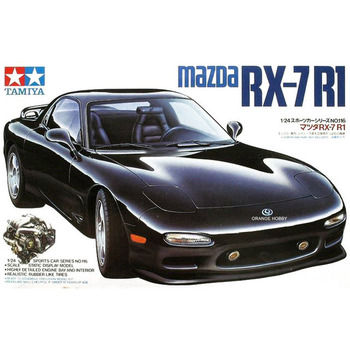1/24 Mazda RX-7 Montage Auto Modell mit Motor Interne Struktur Skala Auto Modell Gebäude DIY Tamiya 24116