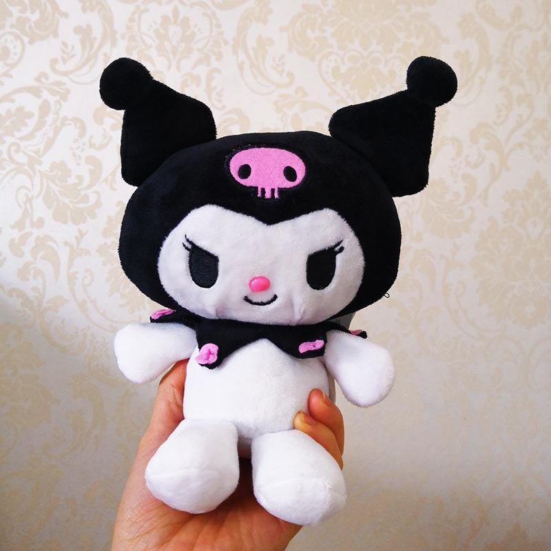kuromi plush soft toy cute doll kawaii japanese stuffed animal novelty birthday gift idea for girlfriend girl kid plushies 15cm