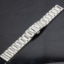 Metal Stainless steel High quality Polished Solid Link Metal Watch Band 18mm 20mm 22mm 24mm for
