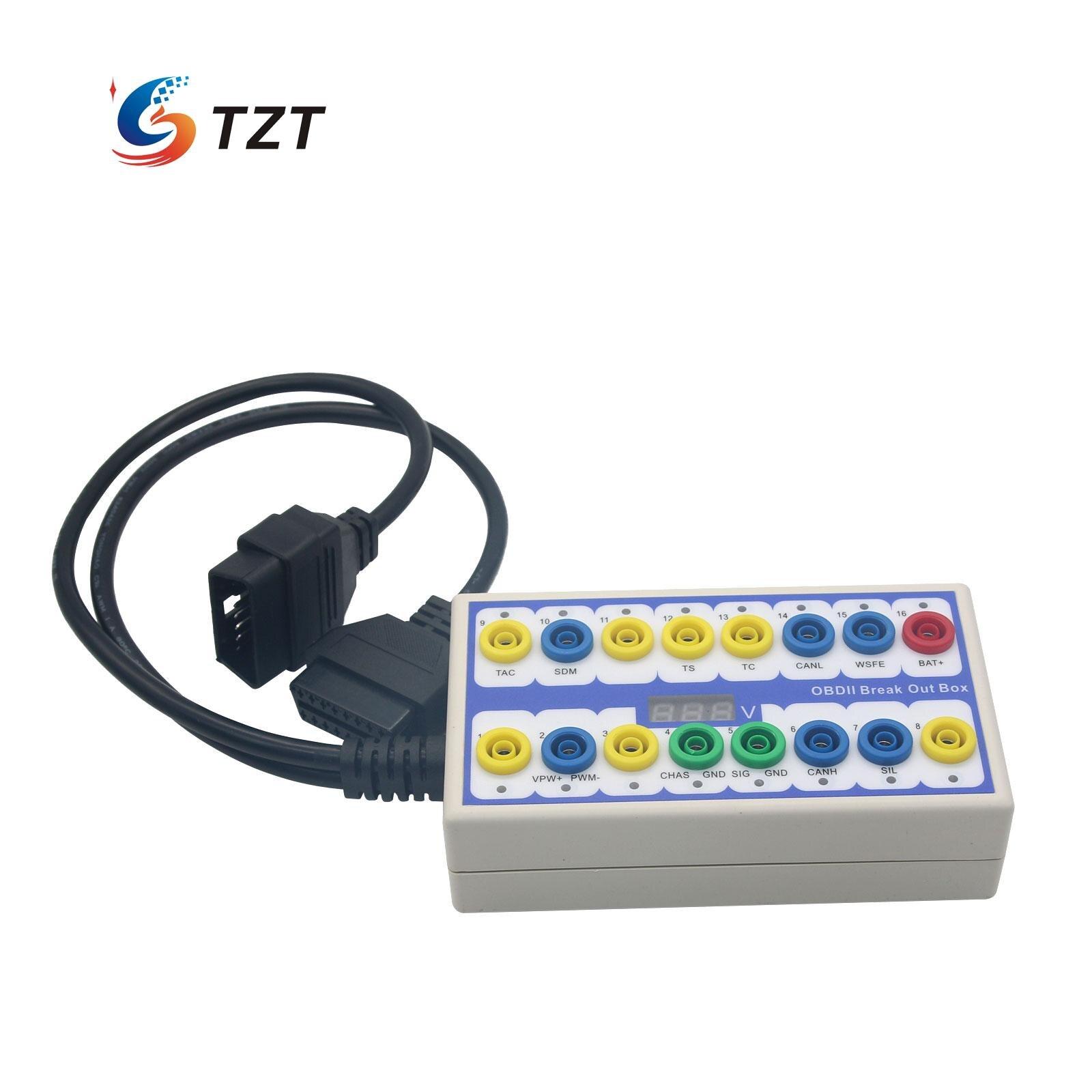 Breakout Box OBDII Breakout Box OBD2 Car Protocol Detector Auto Can Test Box Auto Connector Car
