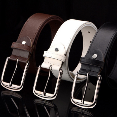 Men Belt Buckle Square Shape Imitation Leather Upscale PU Belt Fashion Classice Vintage Male Belts