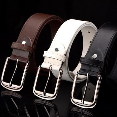 Men   Belt   Buckle Square Shape Imitation Leather Upscale PU   Belt   Fashion Classice Vintage Male   Belts