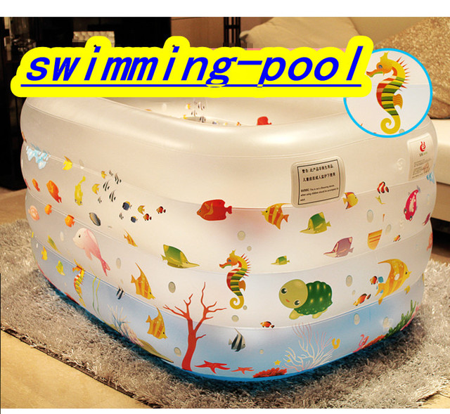 Baby swimming pool big inflatable mouth inflatable swimming pool oversized square baby pool