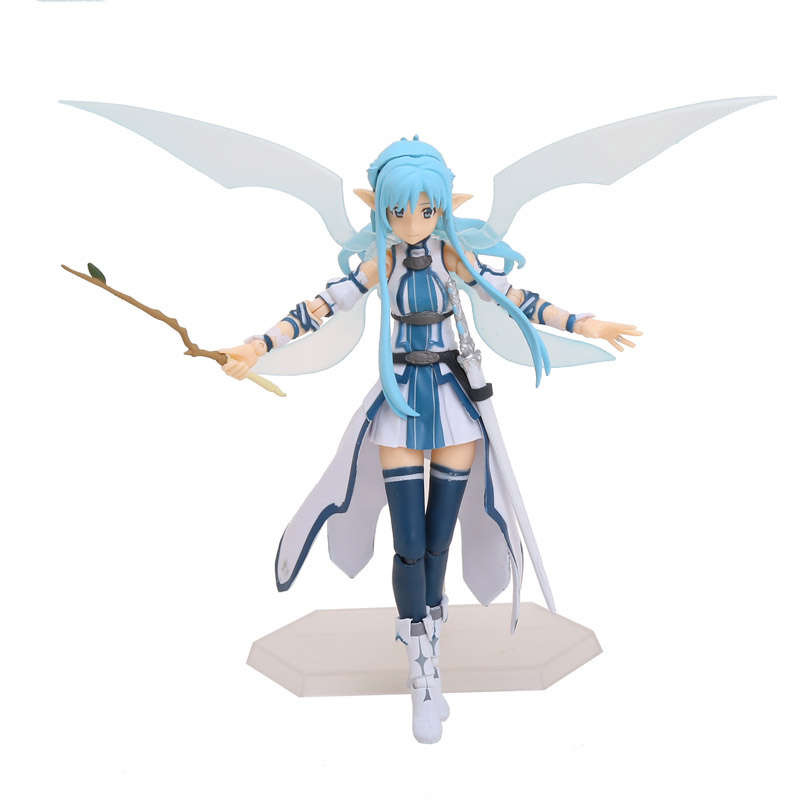 15cm Anime Sword Art Online II SAO Asuna ALO ver. Figma PVC Action Figure Collectible Model Toys Doll Christmas Gifts With Box