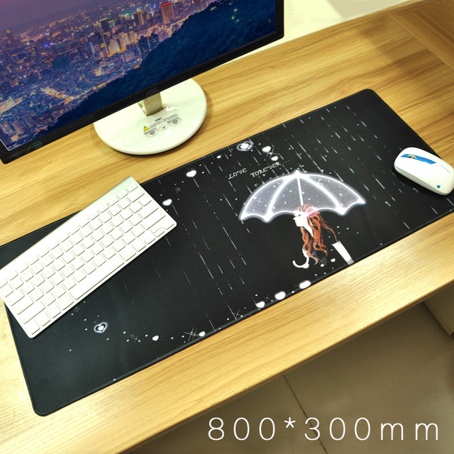 800mm*300mm professional gaming mouse pad, super large computer keyboard&mouse mat, long table PC pad