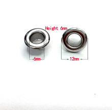 400 # eyelets. An inner diameter of 6mm.  Corn. Bags and shoes accessories. Hollow rivets. 100 sets