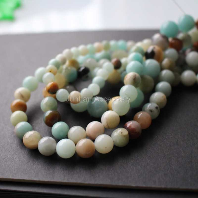 4mm 6mm 8mm 10mm  Natural Amazonite stone  beads Forest  Loose beads 1 string about 40cm wholesale