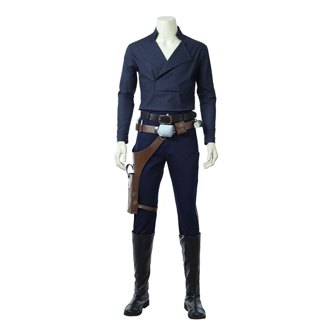 2018 Movie Solo: A Star Wars Story Cosplay Costume Men Han Solo Cosplay Costume Halloween Costumes For Men Full Set Custom Made 4