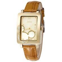Julius Woman Ladies's Watch Japan Quartz Hours Cute Clock Vogue Bracelet Leather-based Cartoon Micky Mouse Lady's Birthday Reward Field
