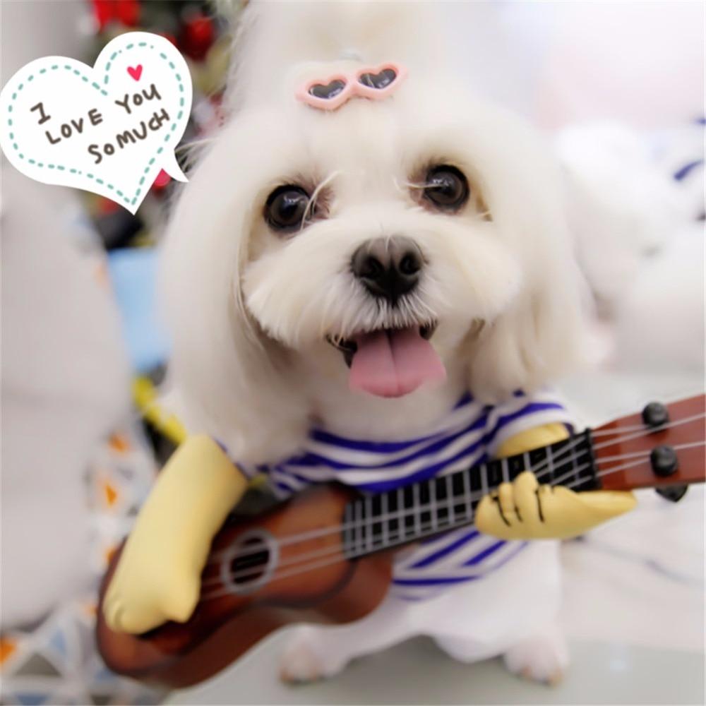 e090b6c2483e Μικρές γάτες ρούχα ρούχα σκυλιά αλλαγή Cosplay κιθάρα κοστούμι ...