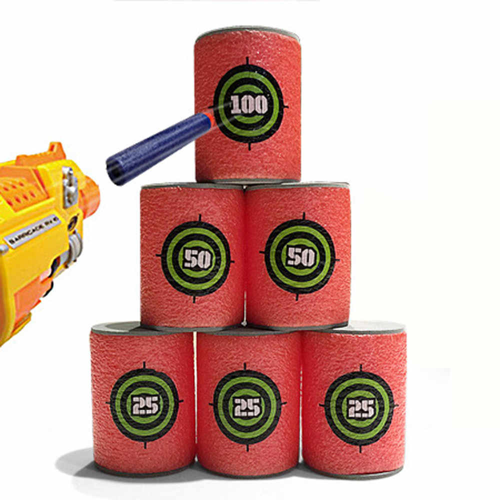 6 قطعة رغوة شرب زجاجة رصاصة التدريب إمدادات لعبة أهداف النار ثبة نيرف مجموعة ل N سترايك الثابتة النخبة ألعاب لينة المرفق اللعب