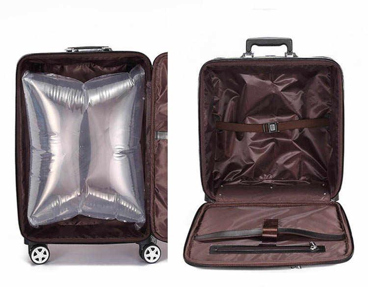 """Mala de viagem de couro genuíno conjunto rolando bagagem caso do trole das mulheres com rodas homem 20 """"caixa de embarque carry on mala de viagem tronco"""