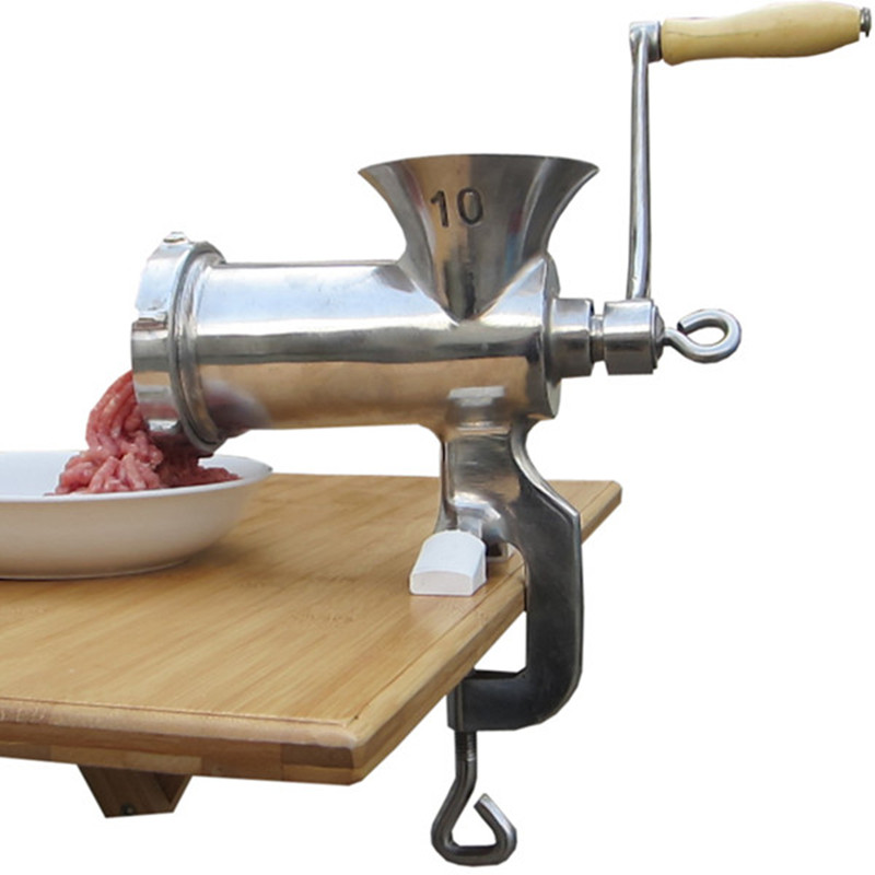 ФОТО Meat grinder mincer machine manual stainless steel suit for meat and vegetable
