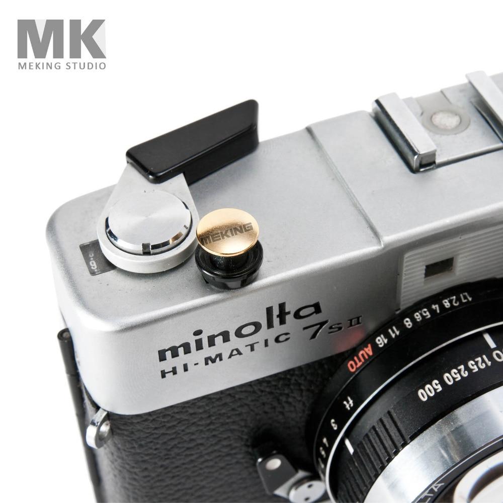Colorful Digital Camera Soft Shutter Button with screw Copper Convex For Leica Rolleiflex Fuji XE1 XPRO1 Nikon Canon Hasselblad digital camera