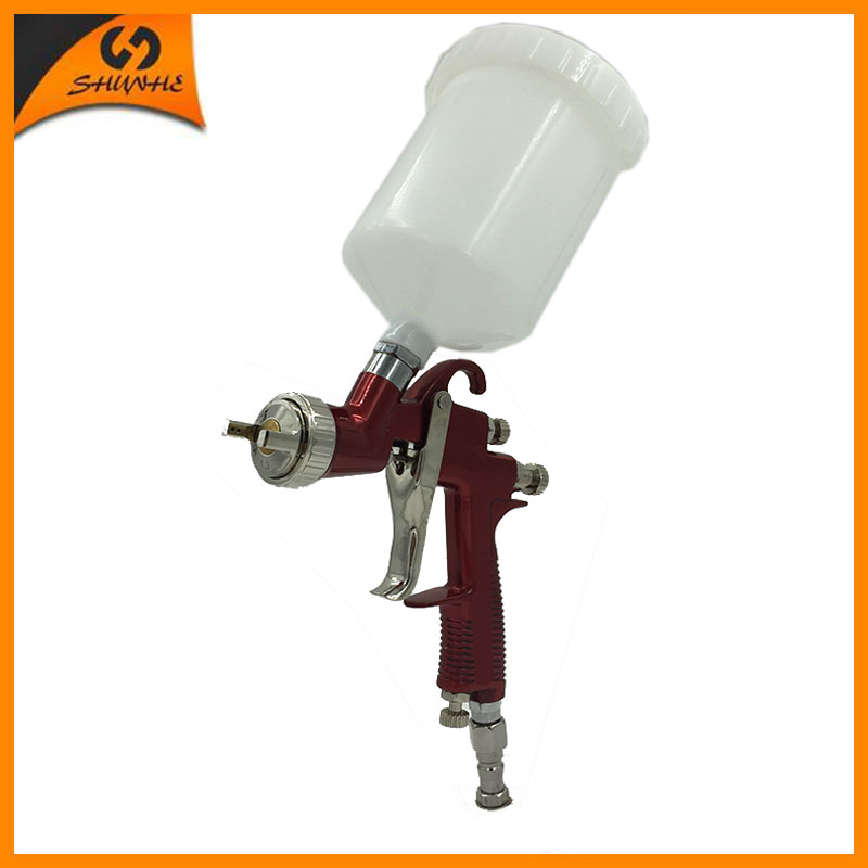 цена на SAT0090 pneumatic spray guns automotive paint airbrush hvlp pneumatic gun car painting tools compressed air auto paint spray gun