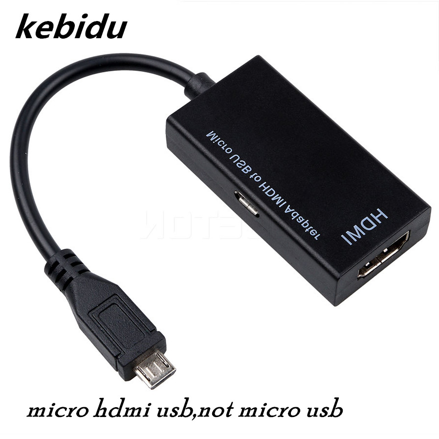 kebidumei High Performance Micro HDMI USB to HDMI HDTV Adapter Cable HD Hub for HDTV Audio Cable For LG HTC HML Mobile Phones mobile phone